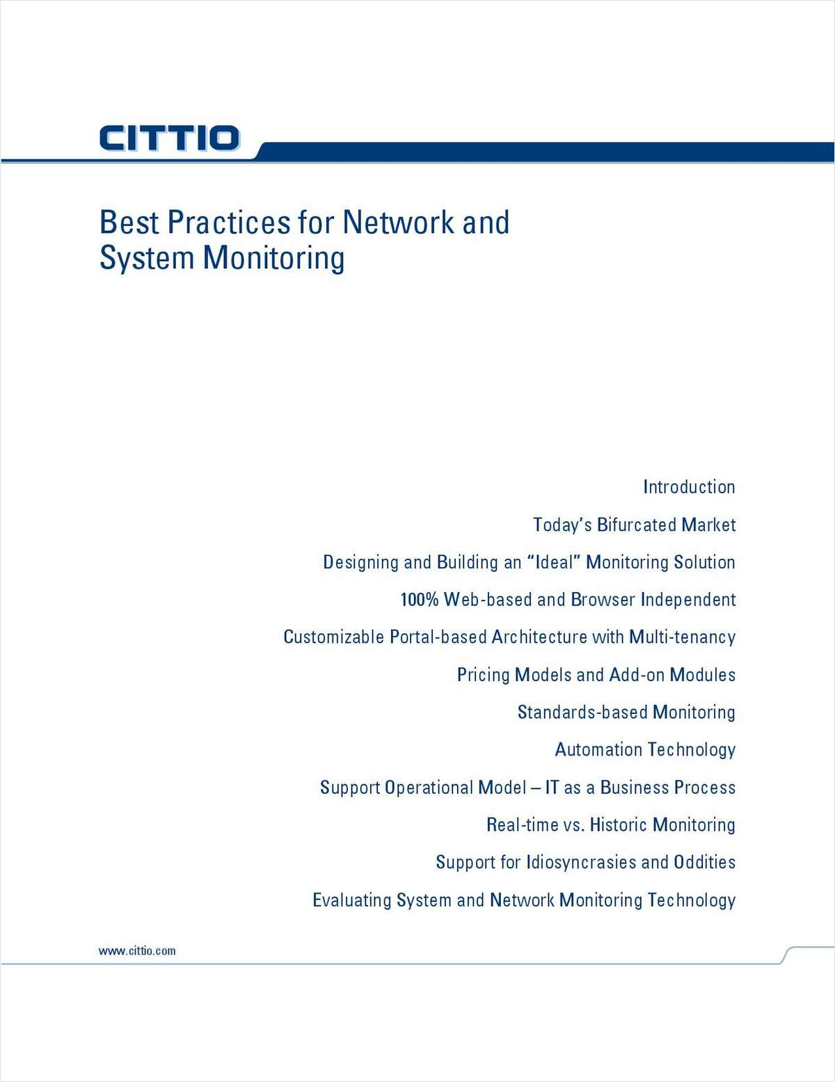 Best Practices for Network and System Monitoring