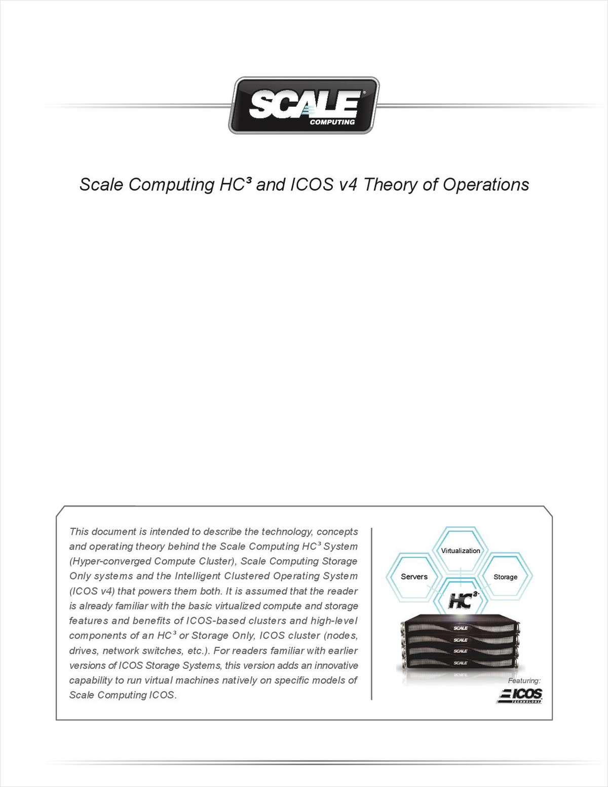 Scale Computing HC³ and ICOS v4 Theory of Operations