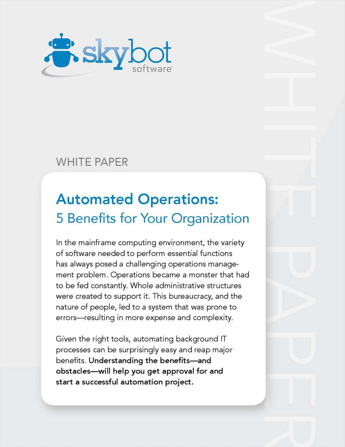 Automated Operations: 5 Benefits for Your Organization
