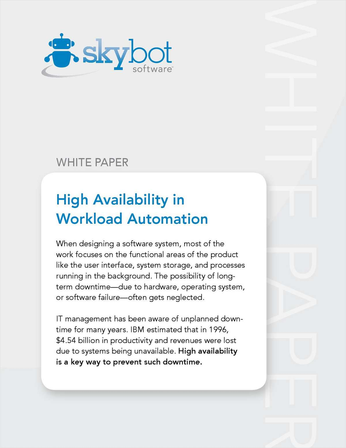 High Availability in Workload Automation (HA in WLA)