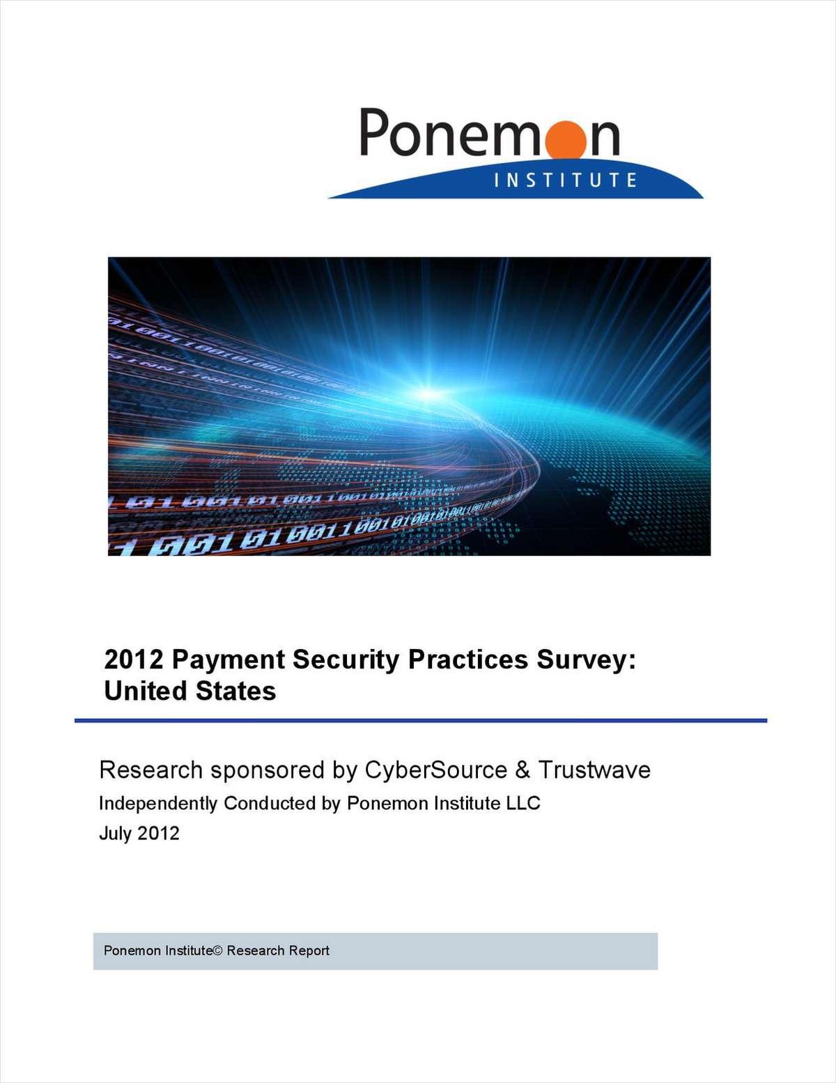 2012 Payment Security Practices Survey