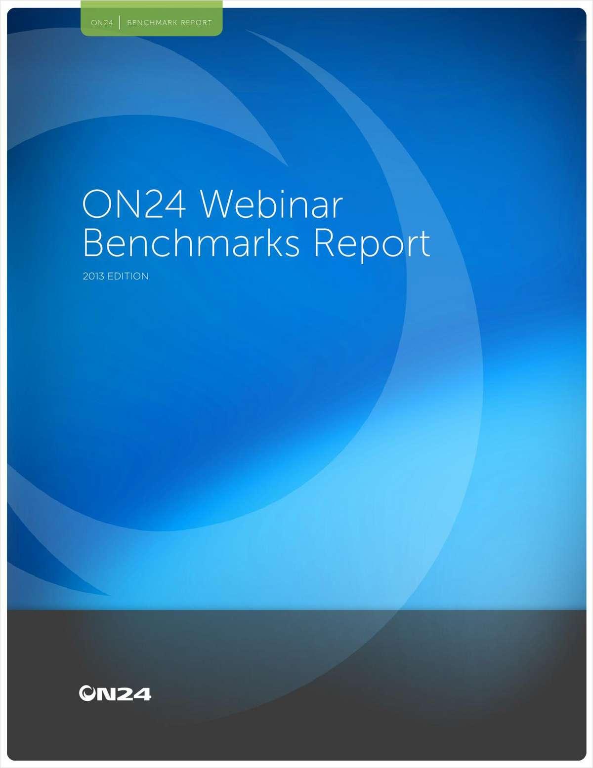 2013 Annual Webinar Benchmarks Report