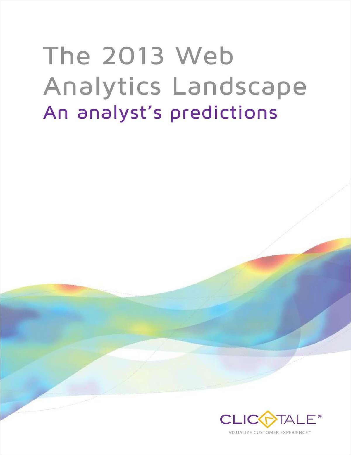 The 2013 Web Analytics Landscape