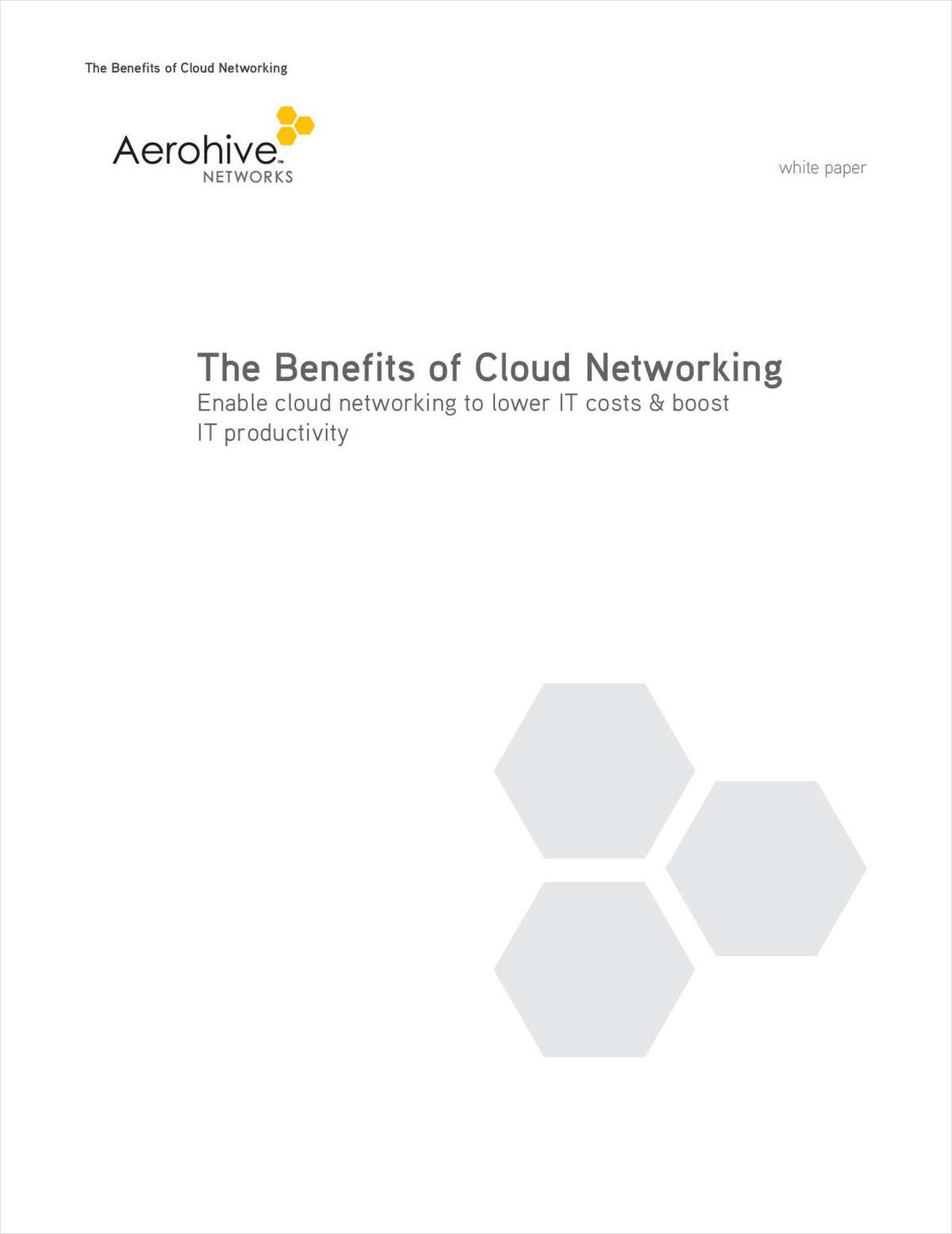 The Benefits of Cloud Networking