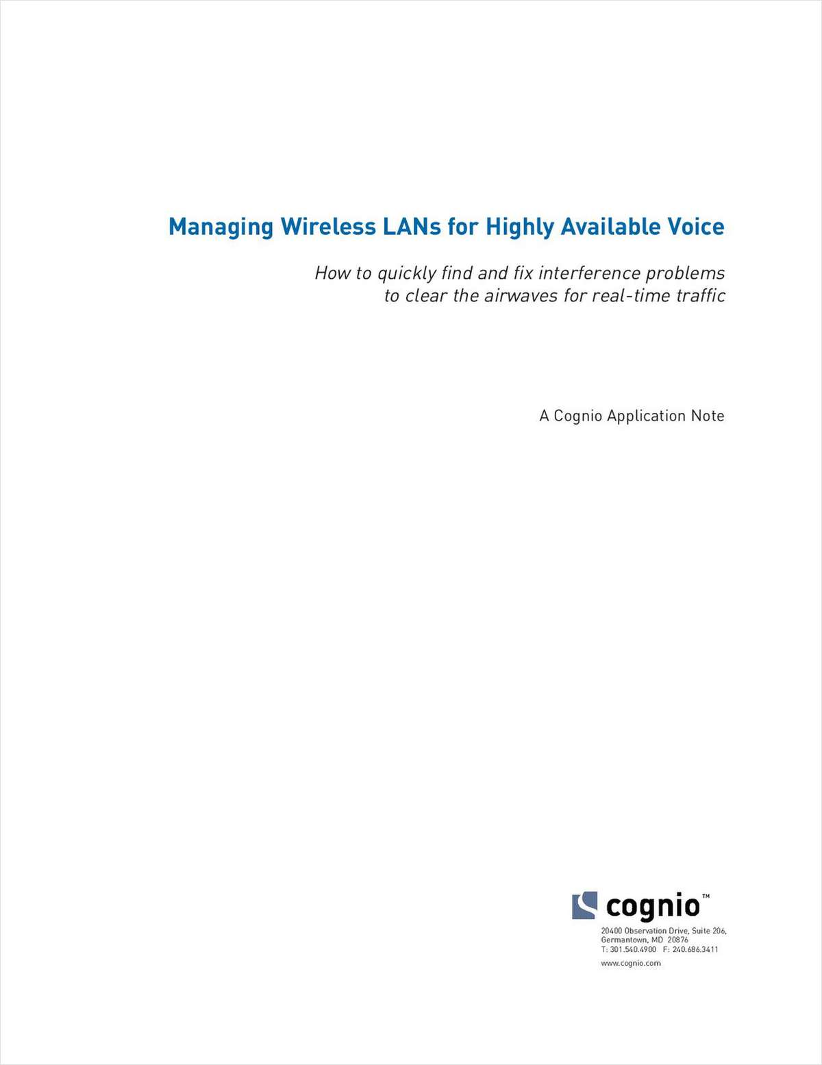 Best Practices for Operating Voice on your Wireless Network