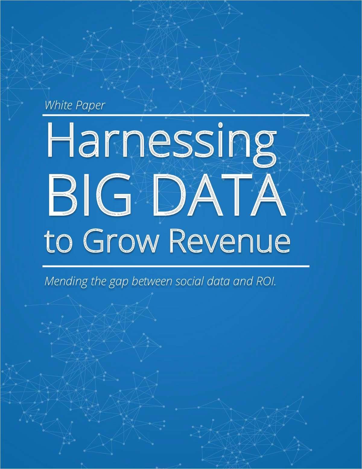 Harnessing BIG DATA to Grow Revenue