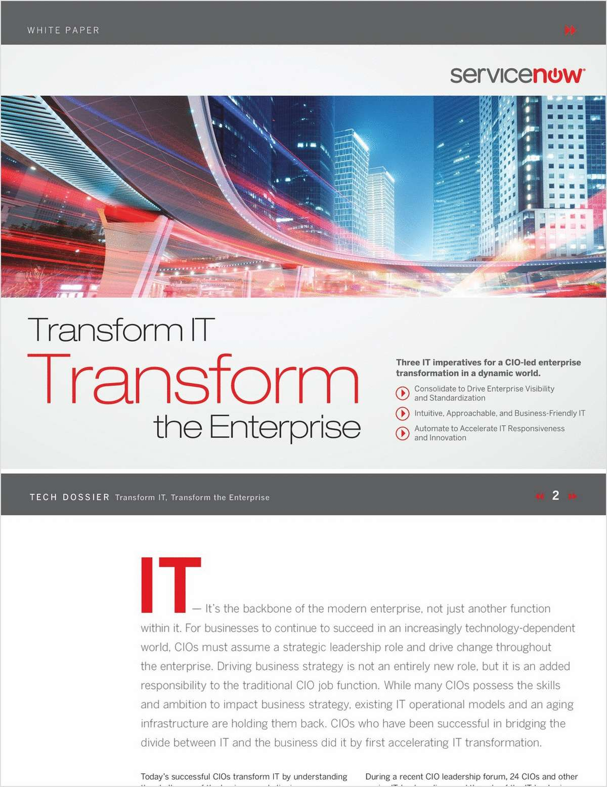 Three IT Imperatives CIOs Use To Drive Change Throughout the Enterprise