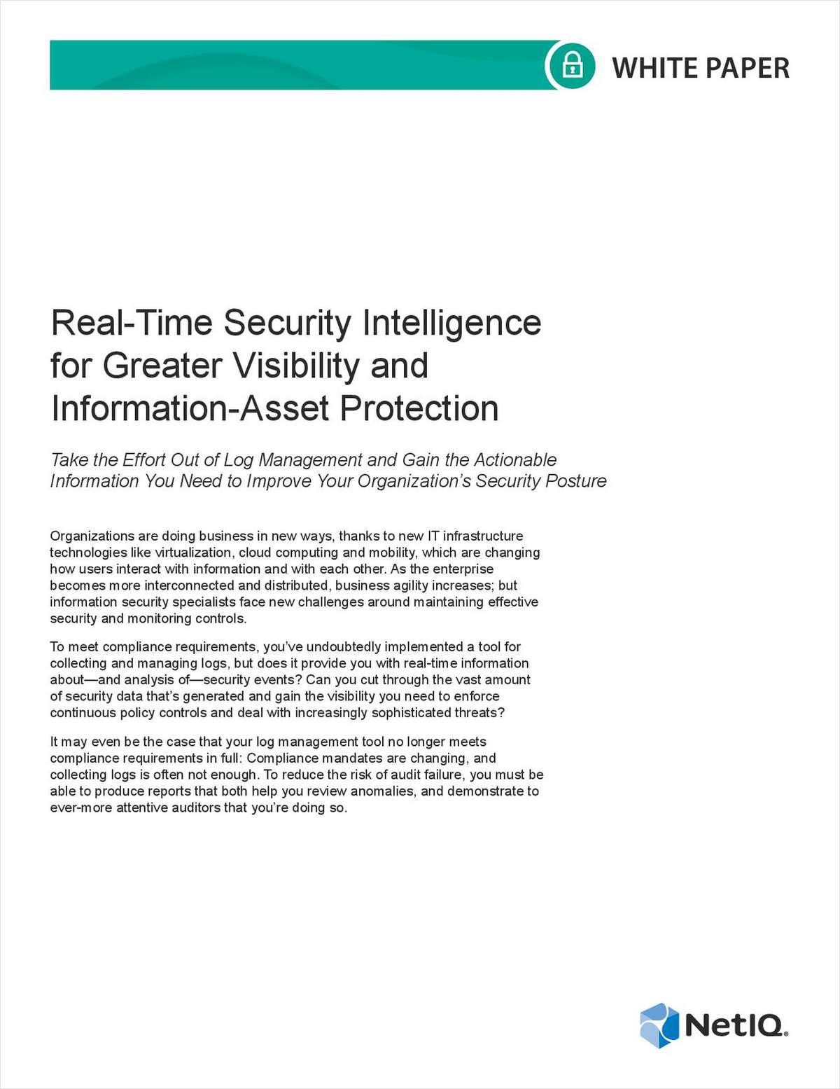 Real-Time Security Intelligence for Greater Visibility and Information-Asset Protection