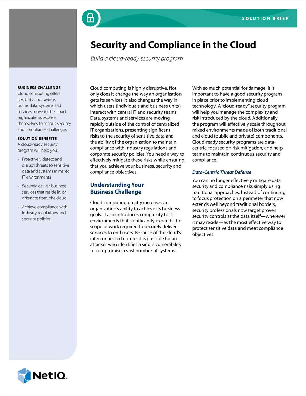 Security and Compliance in the Cloud