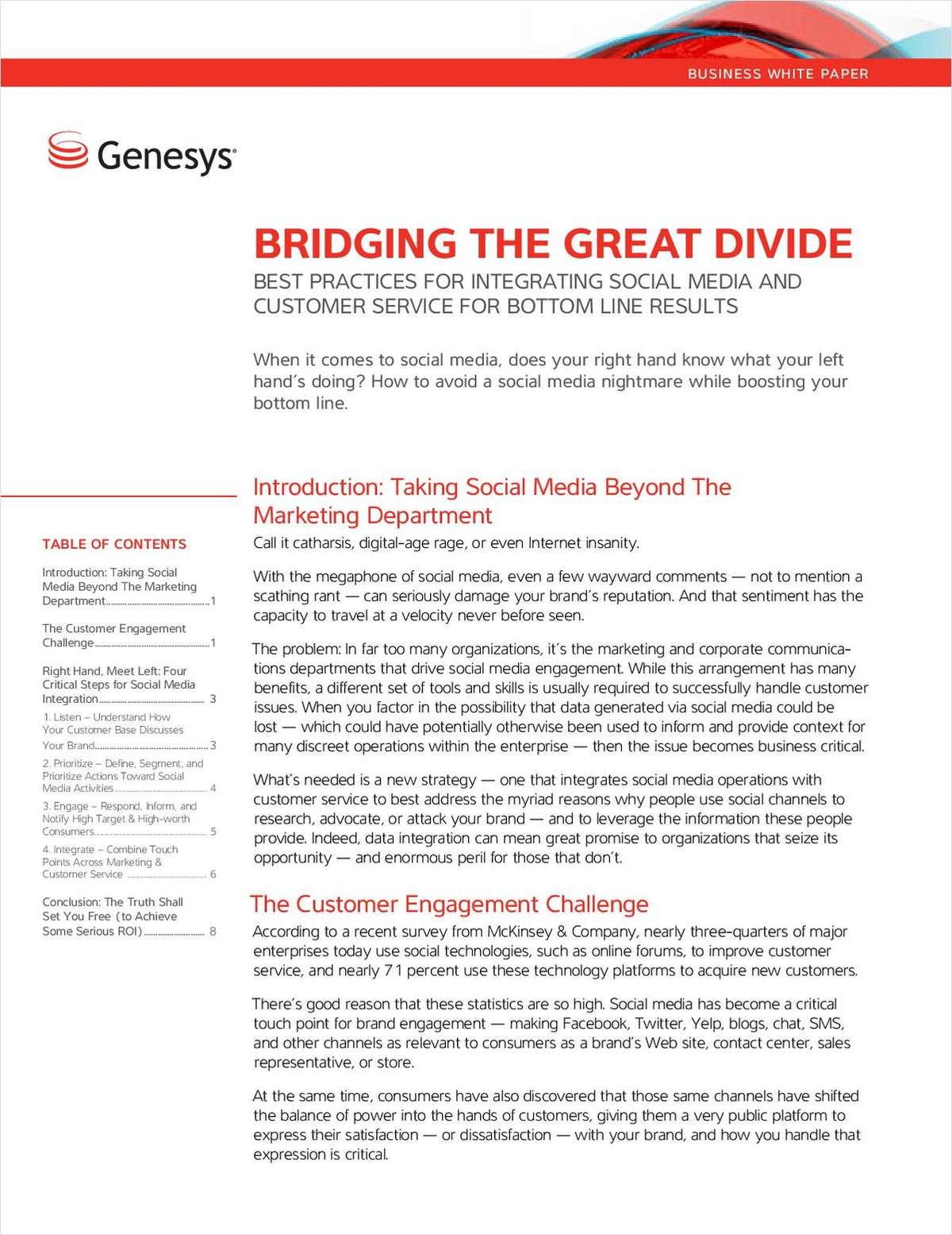 Best Practices for Integrating Social Media and Customer Service for Bottom Line Results