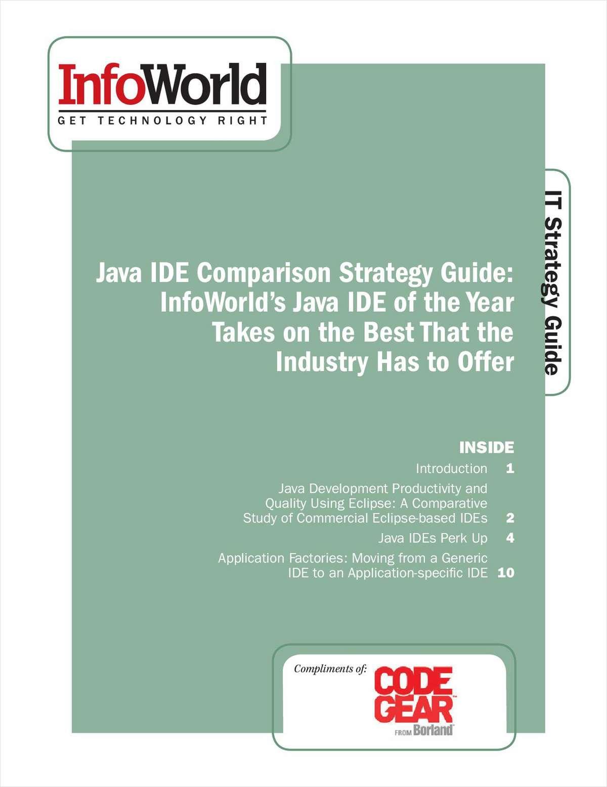 InfoWorld's Java IDE Comparison Strategy Guide
