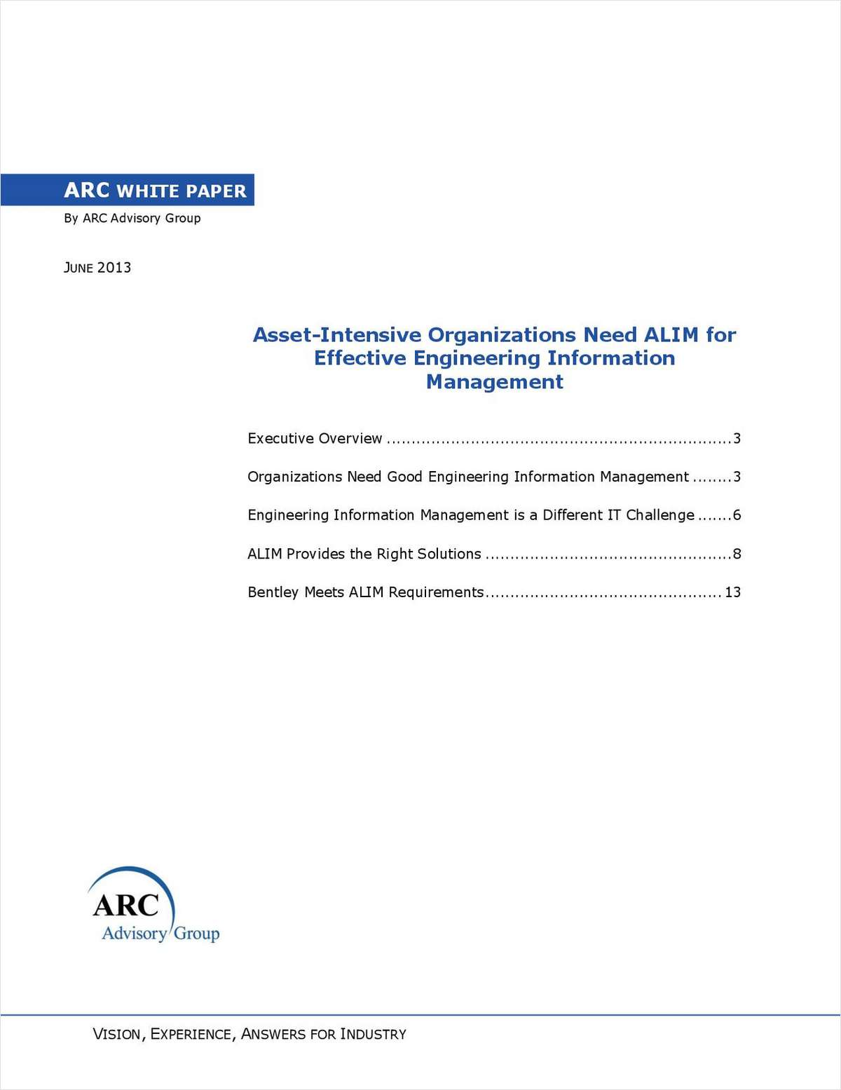 Asset-Intensive Organizations Need ALIM (Asset Lifecycle Information Management) for Effective Engineering Information Management