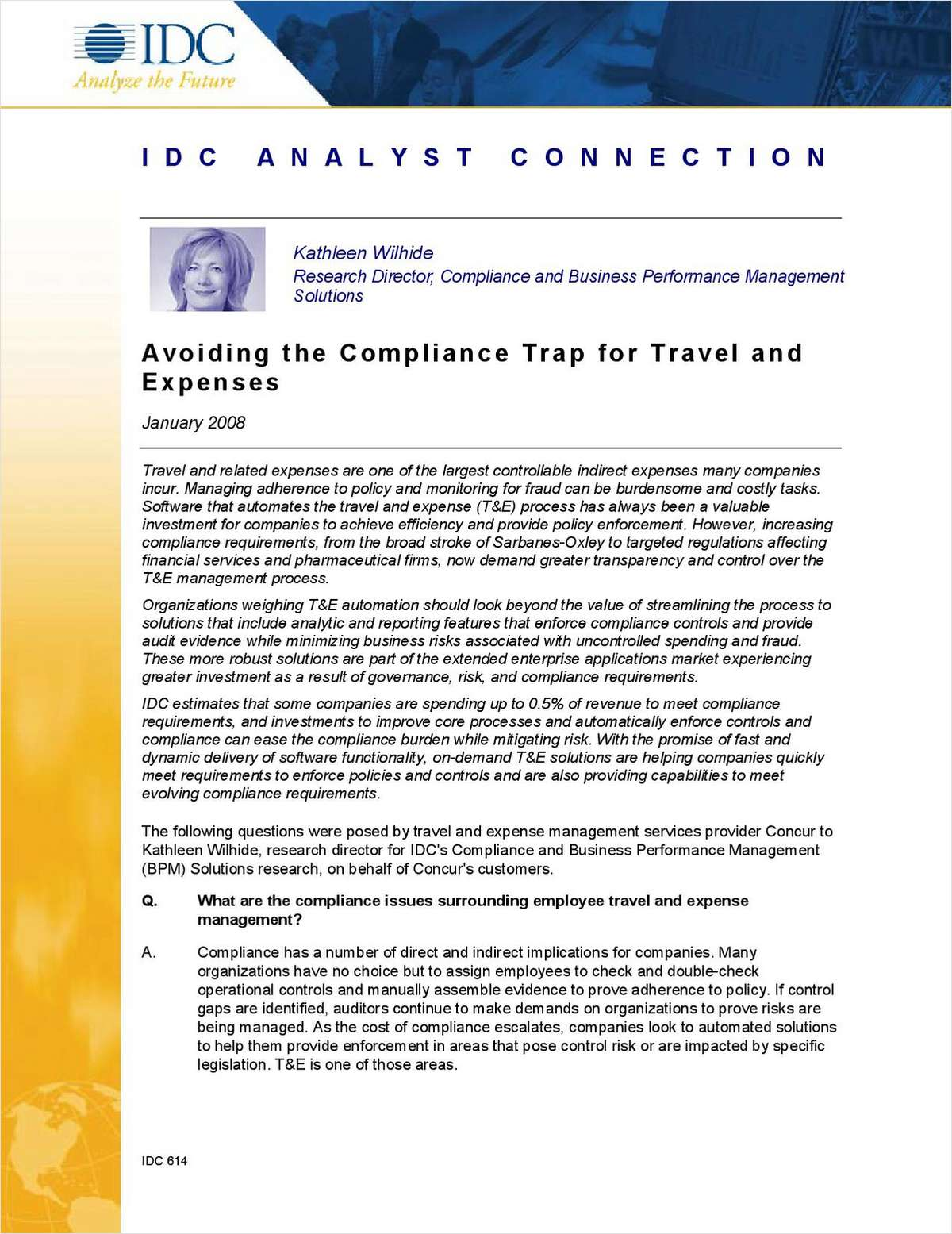 Avoiding the Compliance Trap for Travel and Expenses