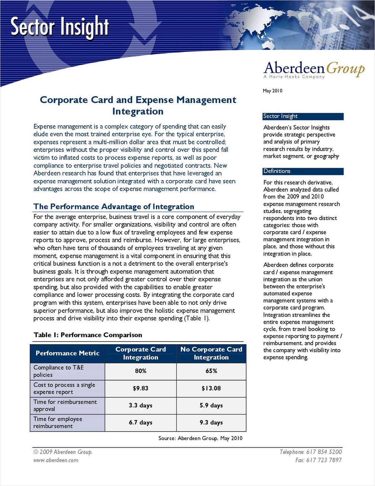 Corporate Card and Expense Management Integration