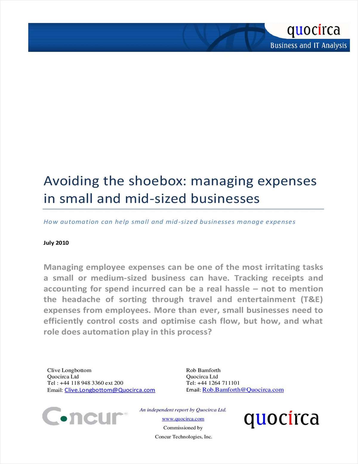 Avoiding the Shoebox: Managing Expenses in Small and Mid-Sized Businesses
