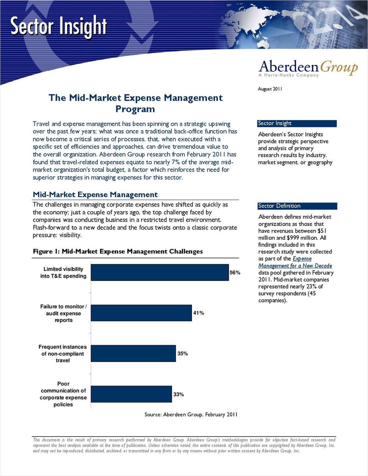 The Mid-Market Expense Management Program