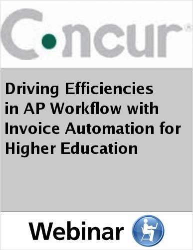 Driving Efficiencies in AP Workflow with Invoice Automation for Higher Education