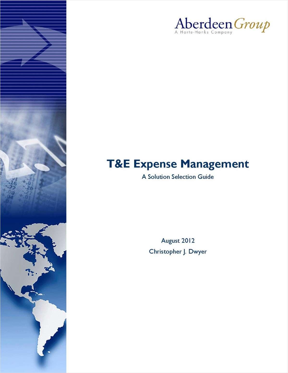 T&E Expense Management: A Solution Selection Guide