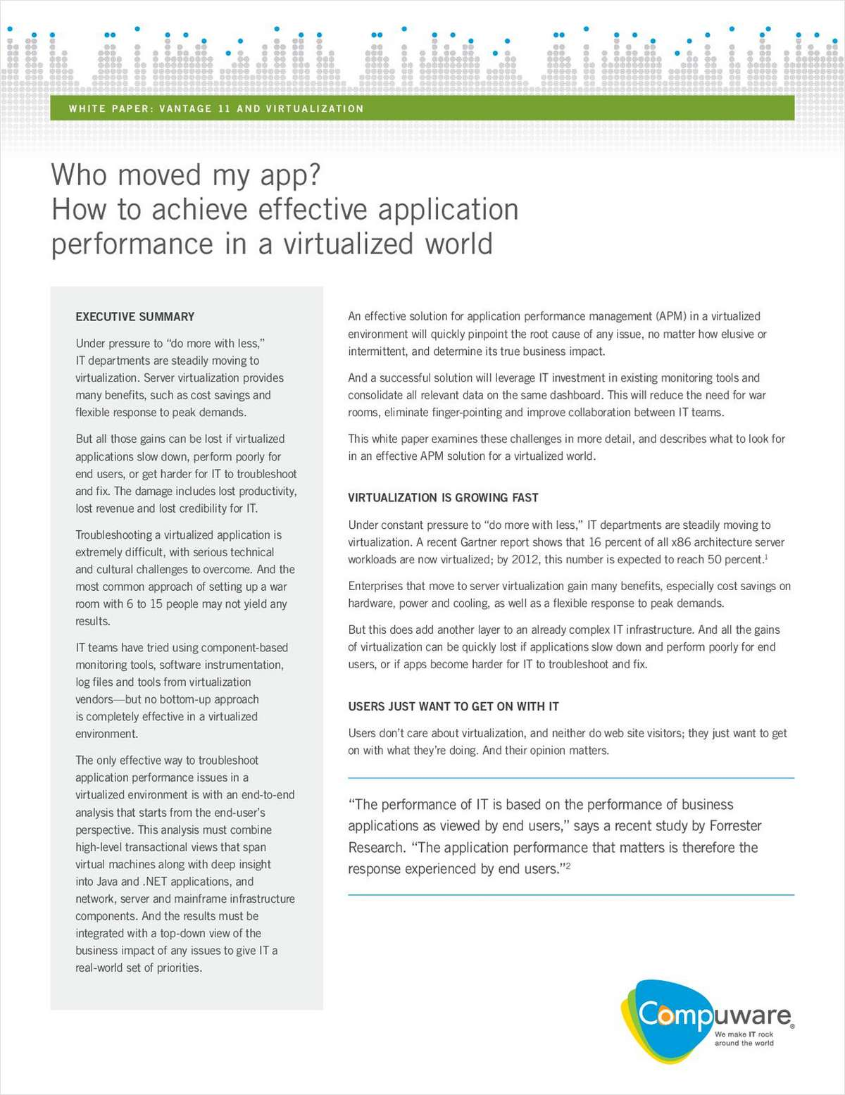 Who Moved My App? How to Achieve Effective Application Performance in a Virtualized World