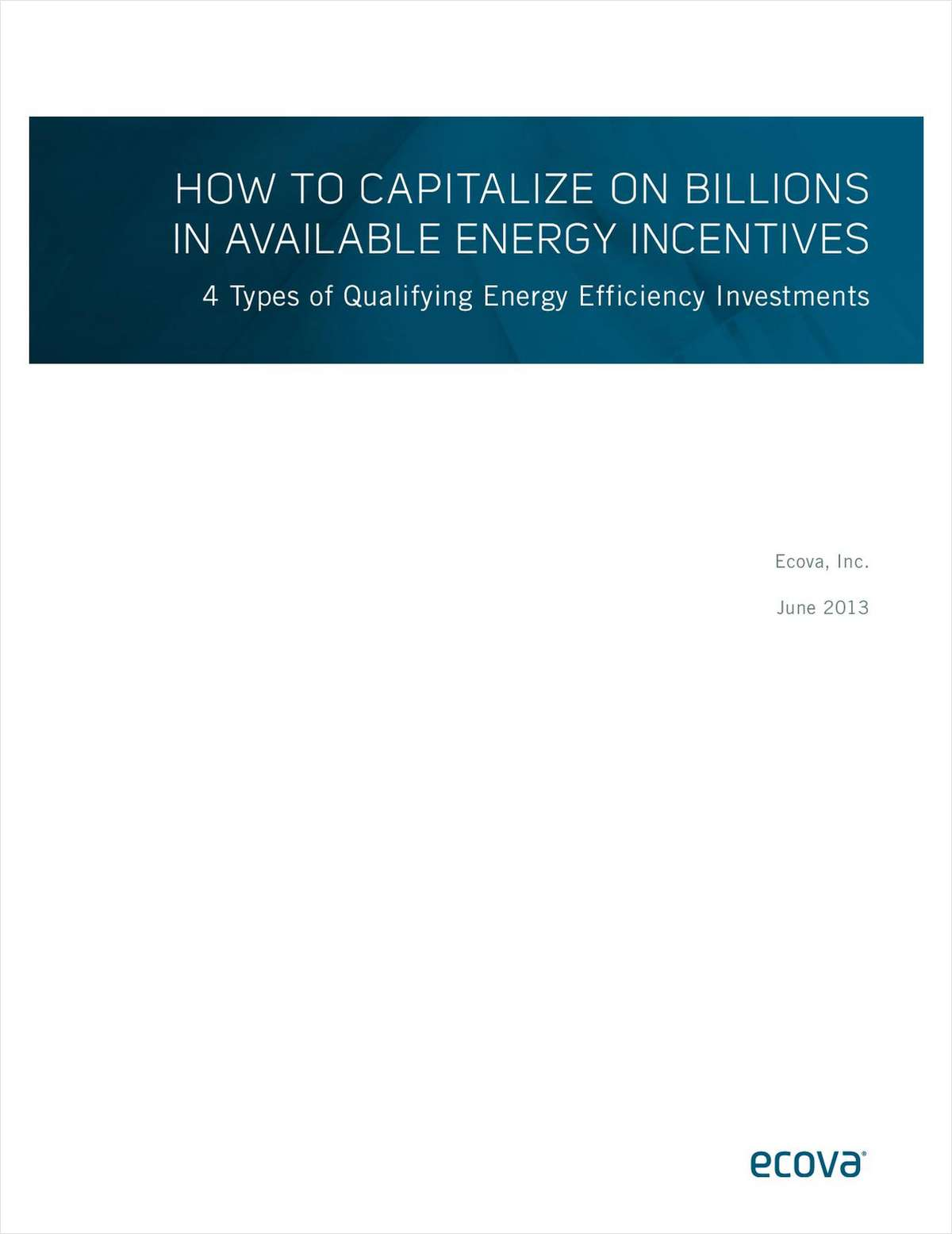 How to Capitalize on Billions in Available Energy Incentives