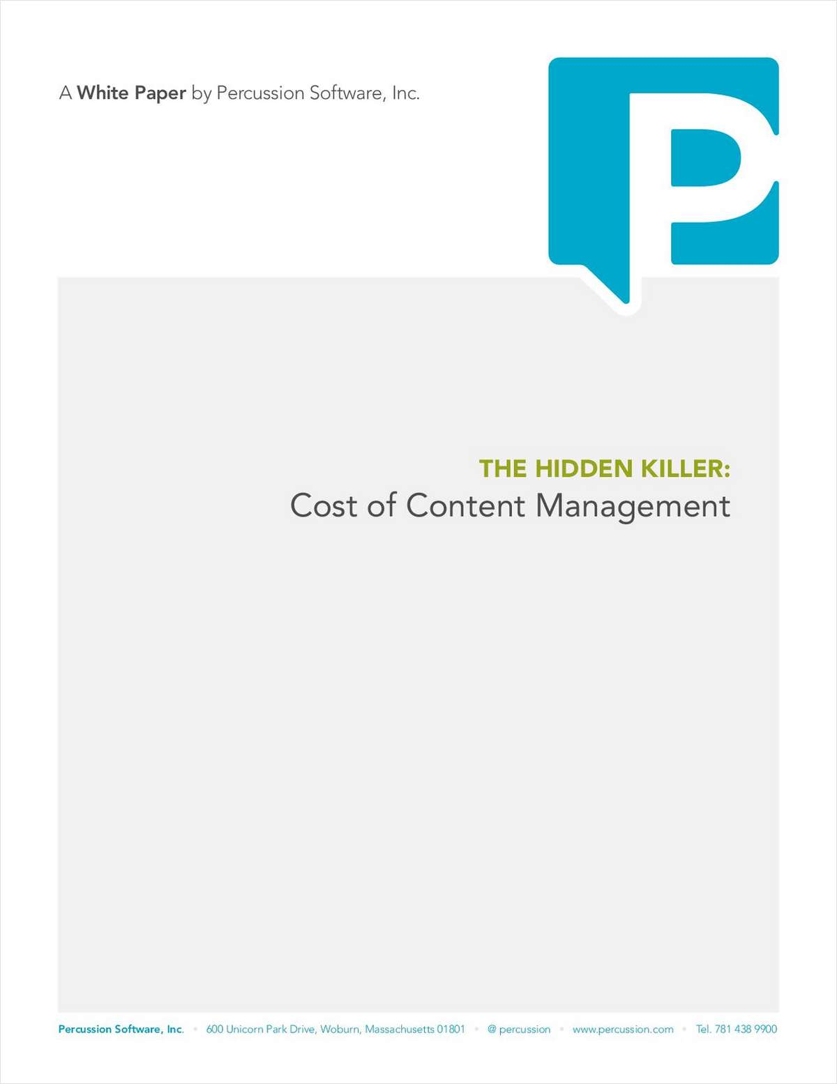 The Hidden Killer: Cost of Content Management