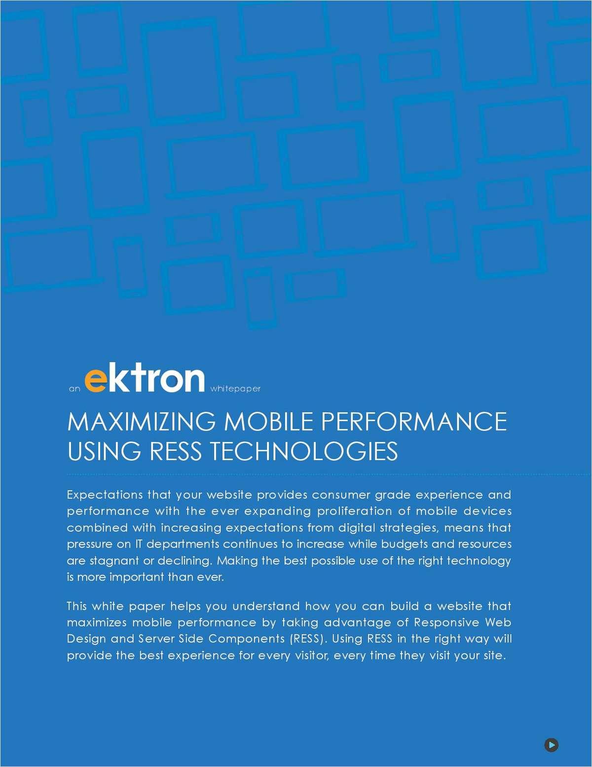 Maximizing Mobile Performance Using RESS Technologies