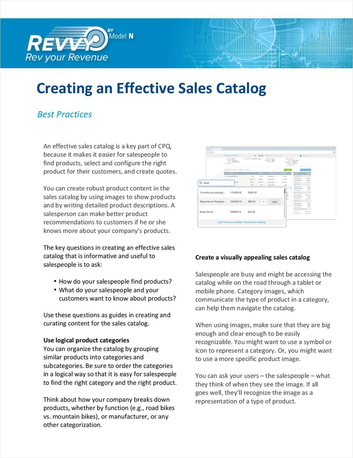 Creating an Effective Sales Catalog