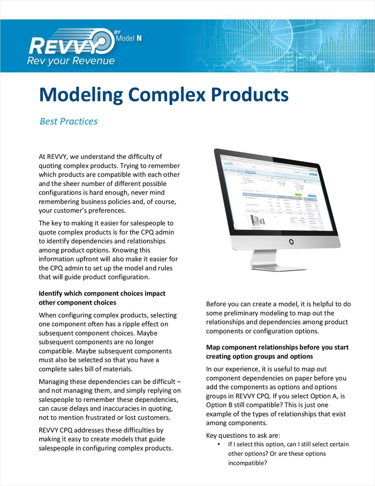 Modeling Complex Products