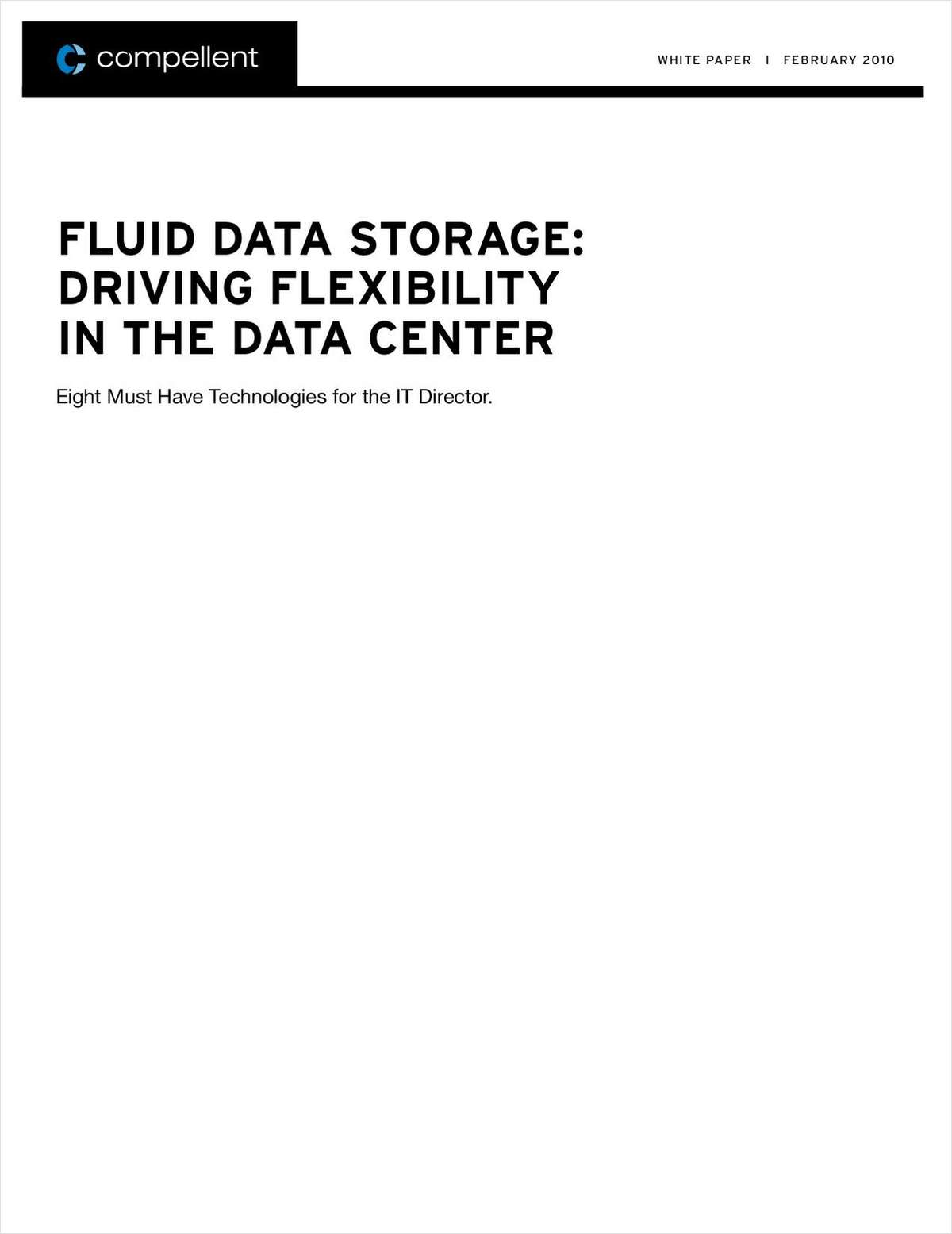 Fluid Data Storage Drives Flexibility in the Data Center