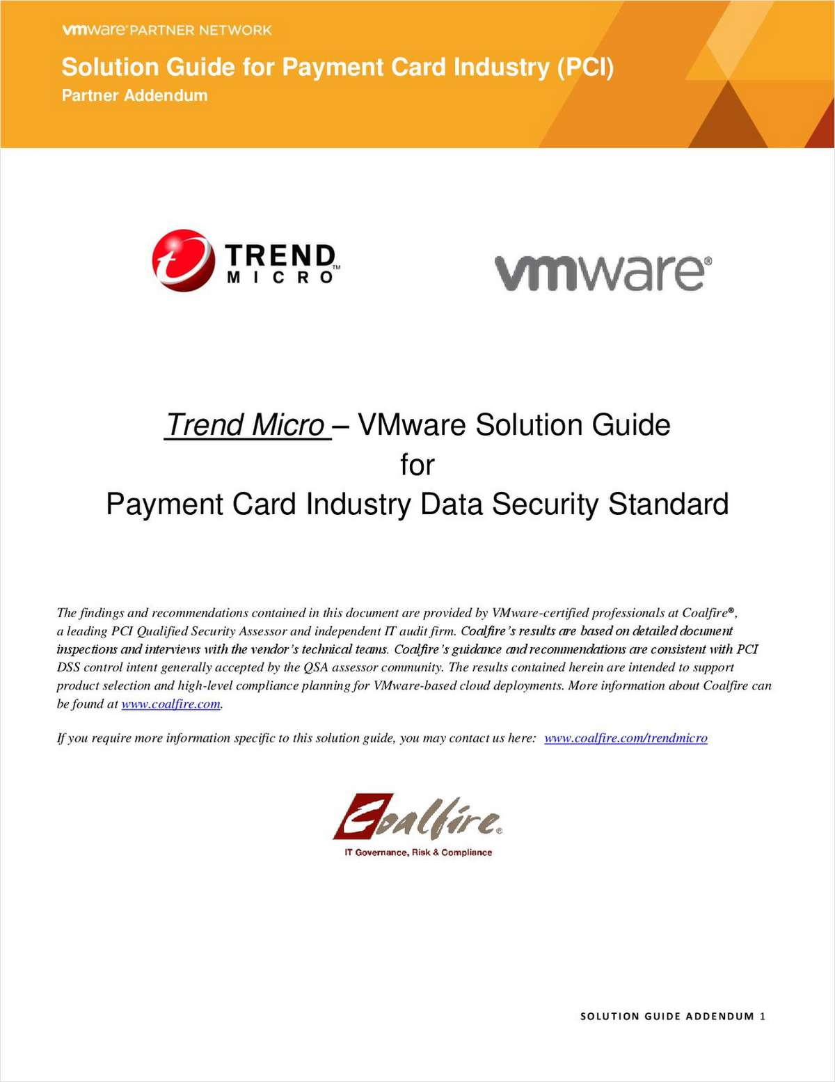 VMware Solution Guide for Payment Card Industry Data Security Standard