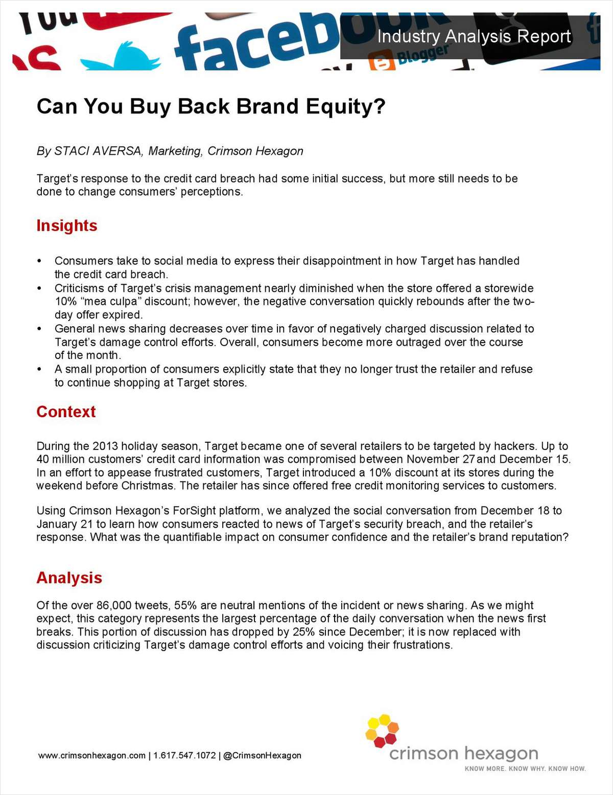 Can You Buy Back Brand Equity?
