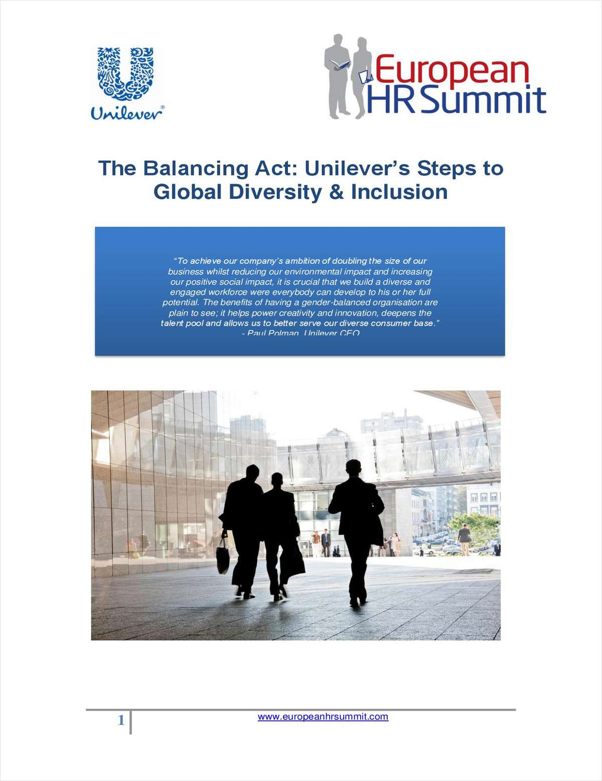 The Balancing Act: Unilever's Steps to Global Diversity & Inclusion