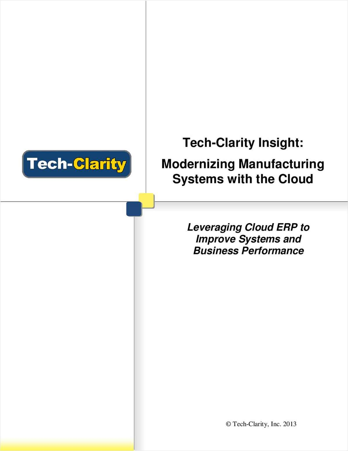 Improve Systems and Business Performance with Cloud ERP