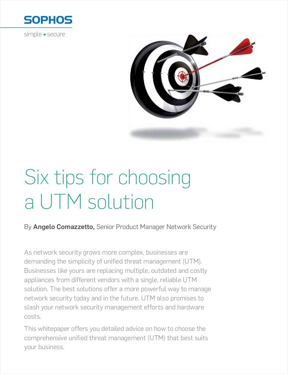 Six Tips for Choosing a UTM Solution