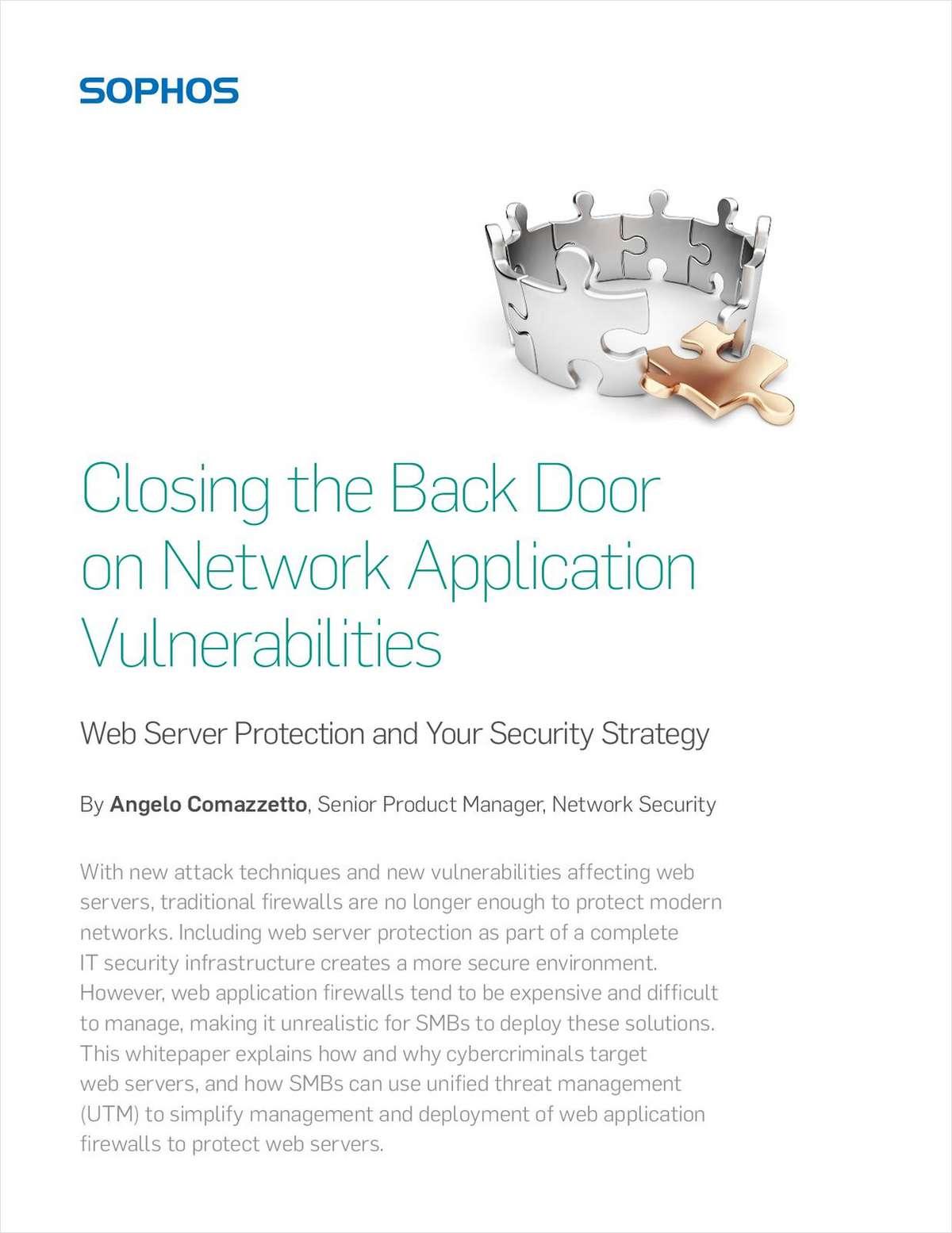 Closing the Back Door on Network Application Vulnerabilities