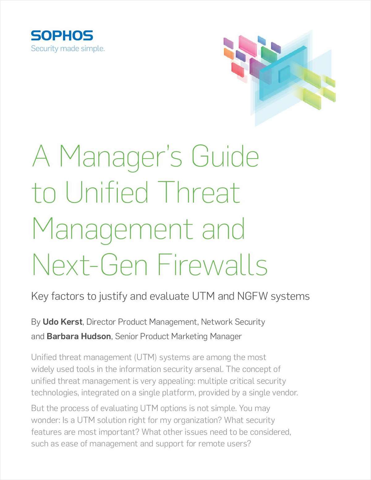 A Manager's Guide to Unified Threat Management and Next-Gen Firewalls