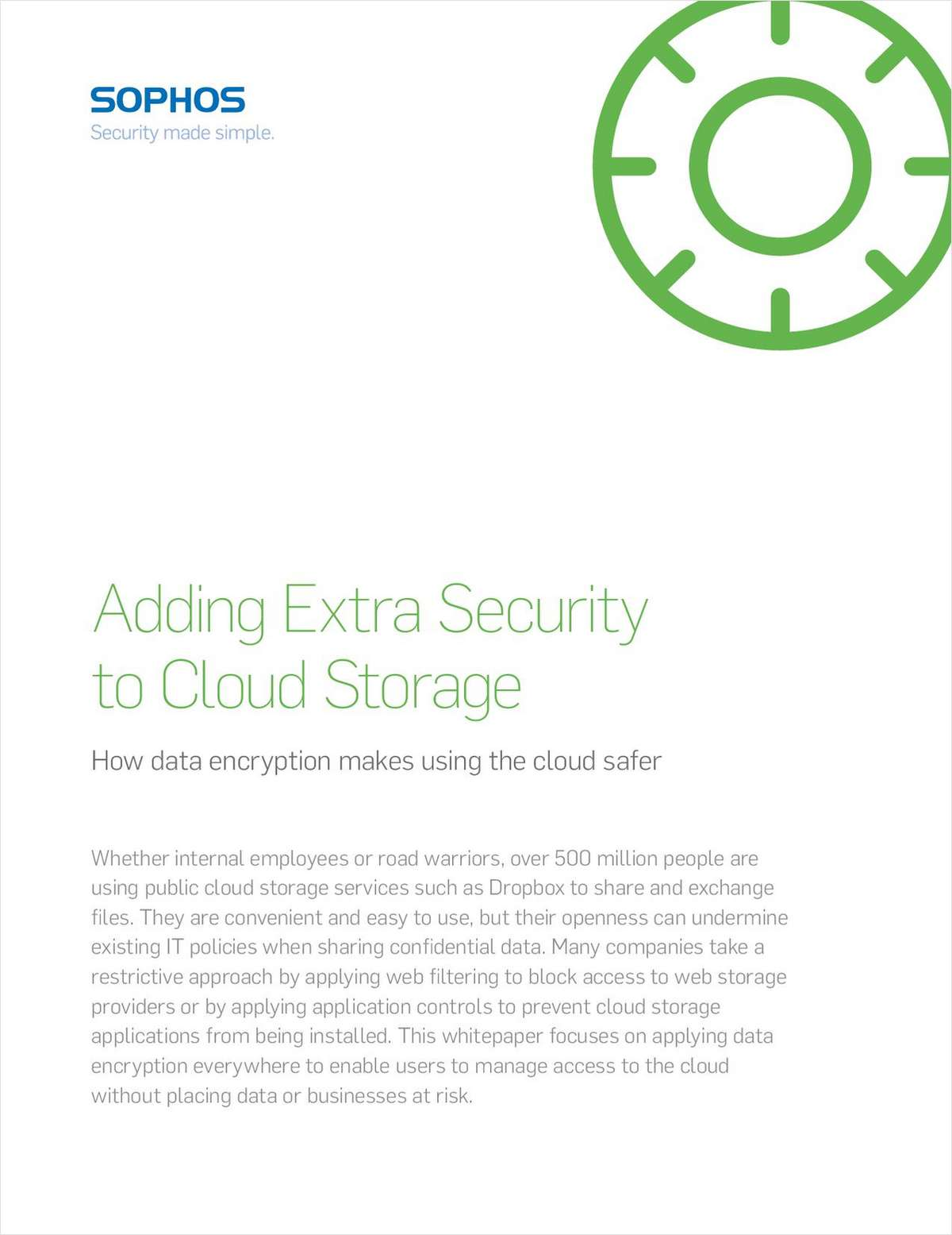 Adding Extra Security to Cloud Storage