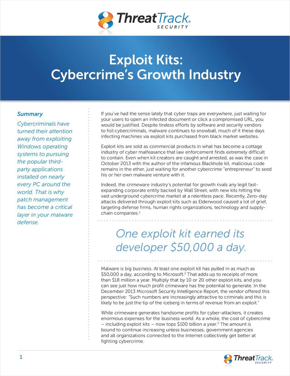 Exploit Kits: Cybercrime's Growth Industry