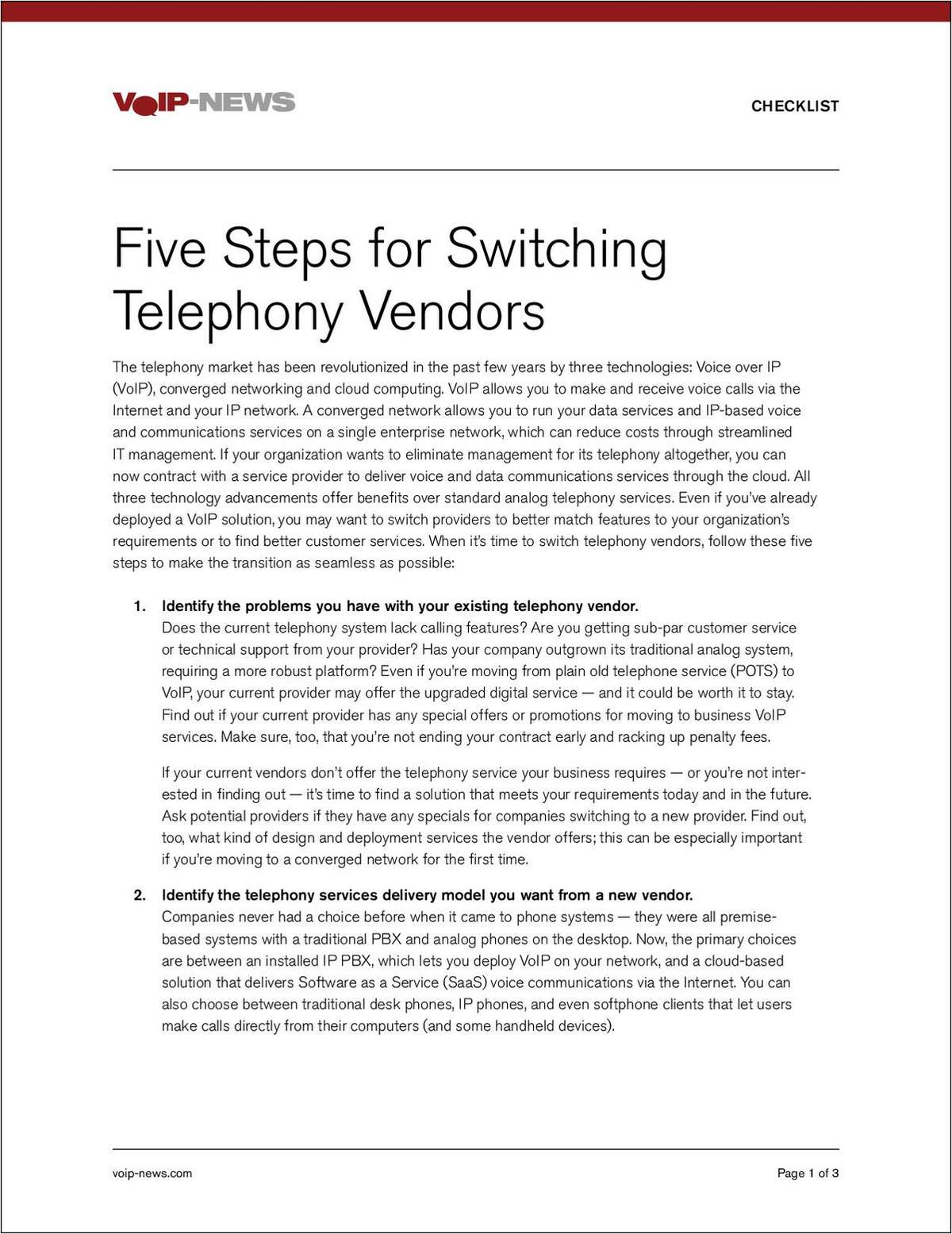 5 Steps to Switching Phone System Vendors