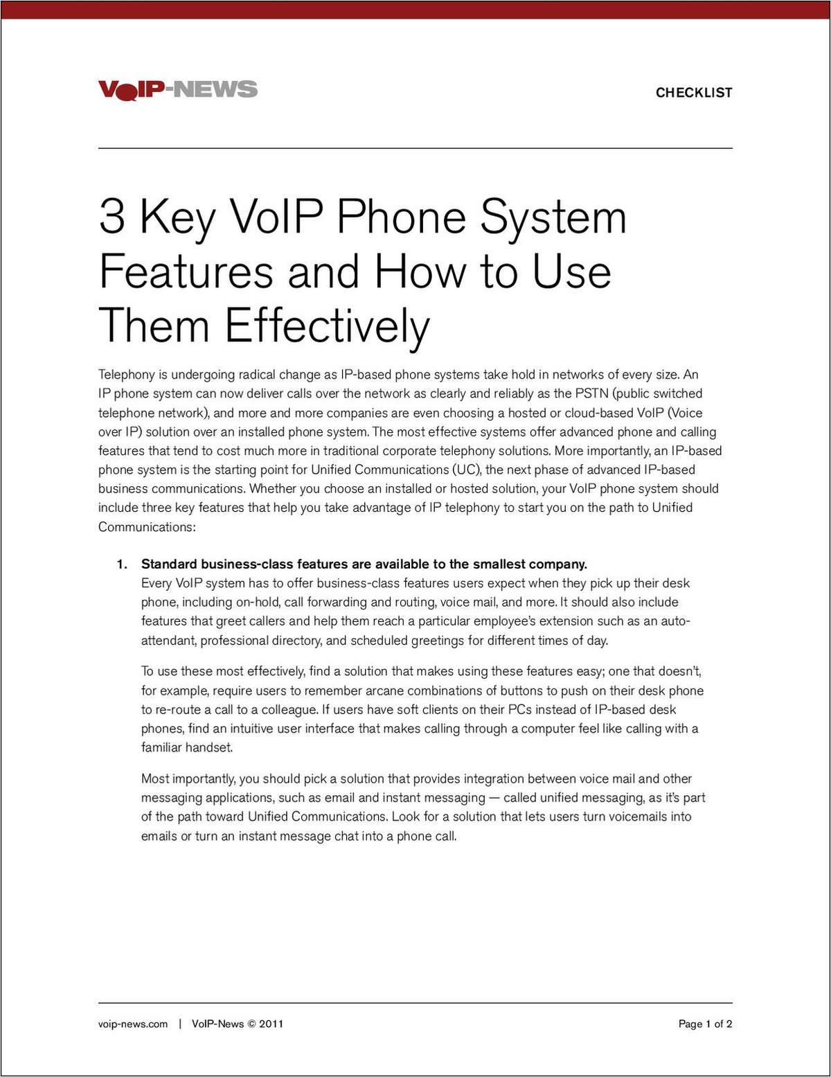 3 Key VoIP Phone System Features and How to Use Them Effectively