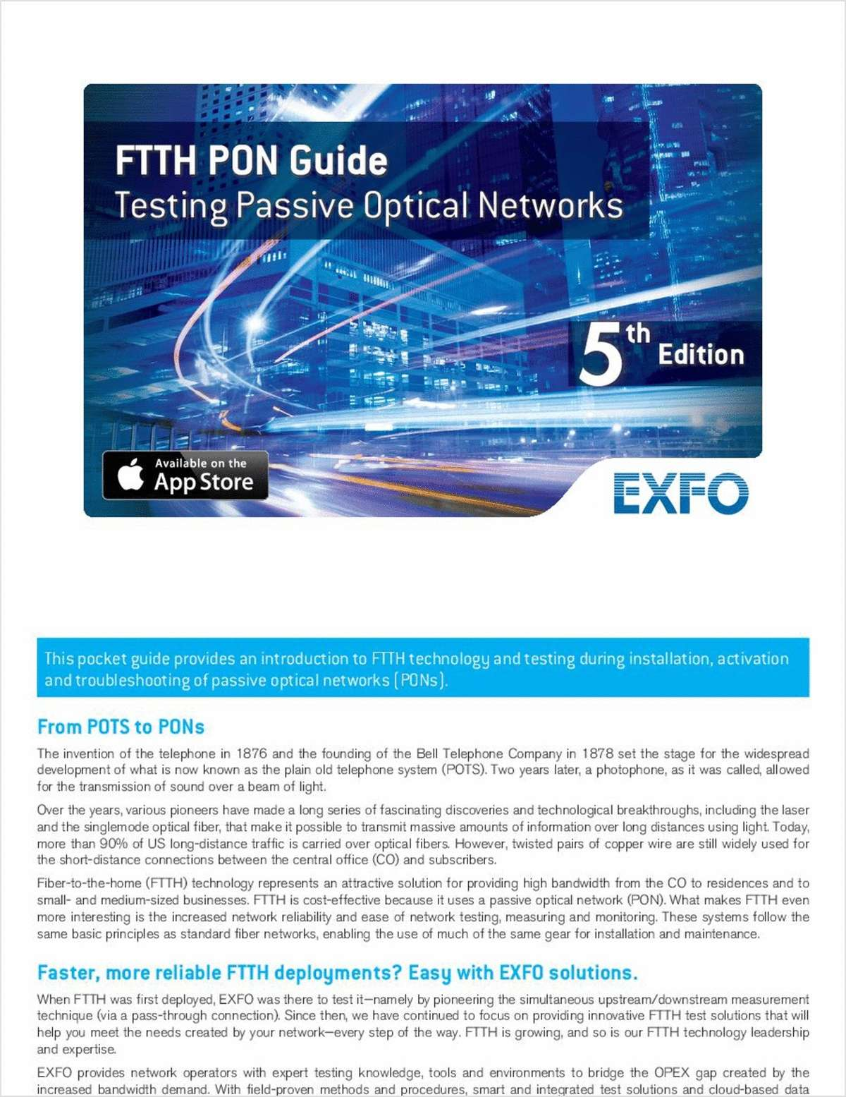 FTTH PON Guide: Testing Passive Optical Networks