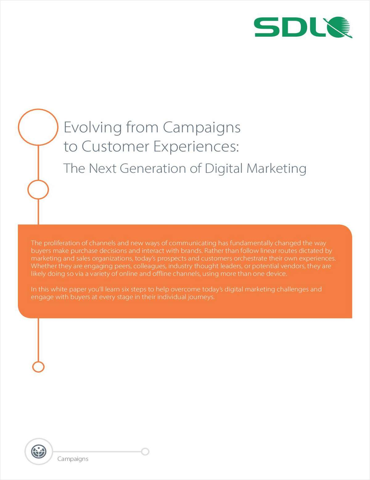 Evolving From Campaigns to Customer Experiences: The Next Generation of Digital Marketing