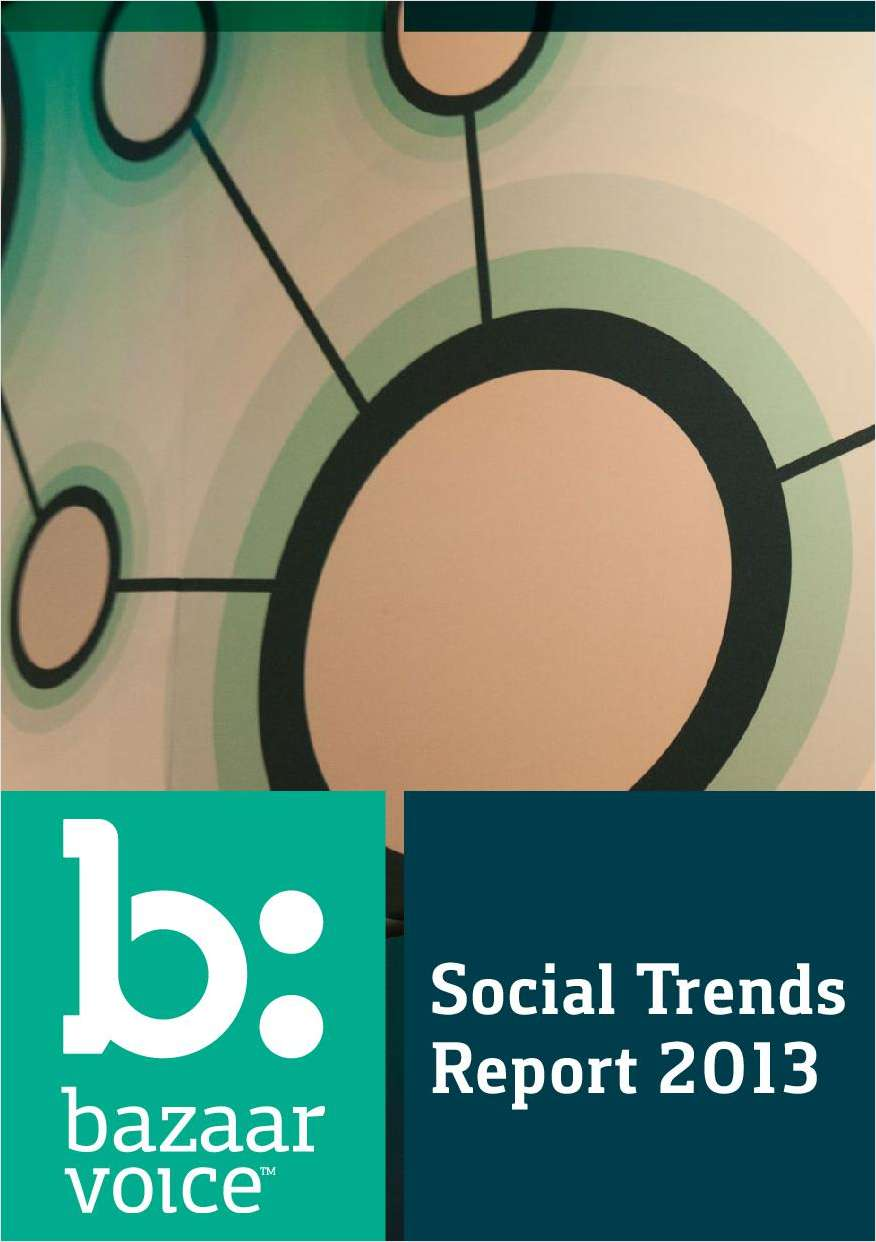 Connected Economy in Retail: Social Trends Report 2013