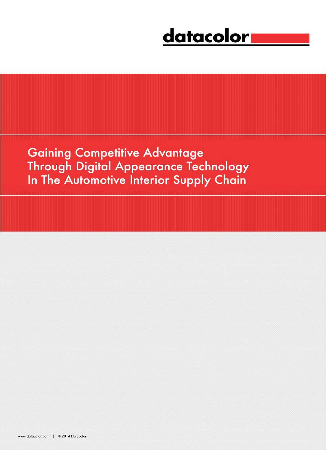 Gaining Competitive Advantage Through Digital Appearance Technology In The Automotive Interior Supply Chain
