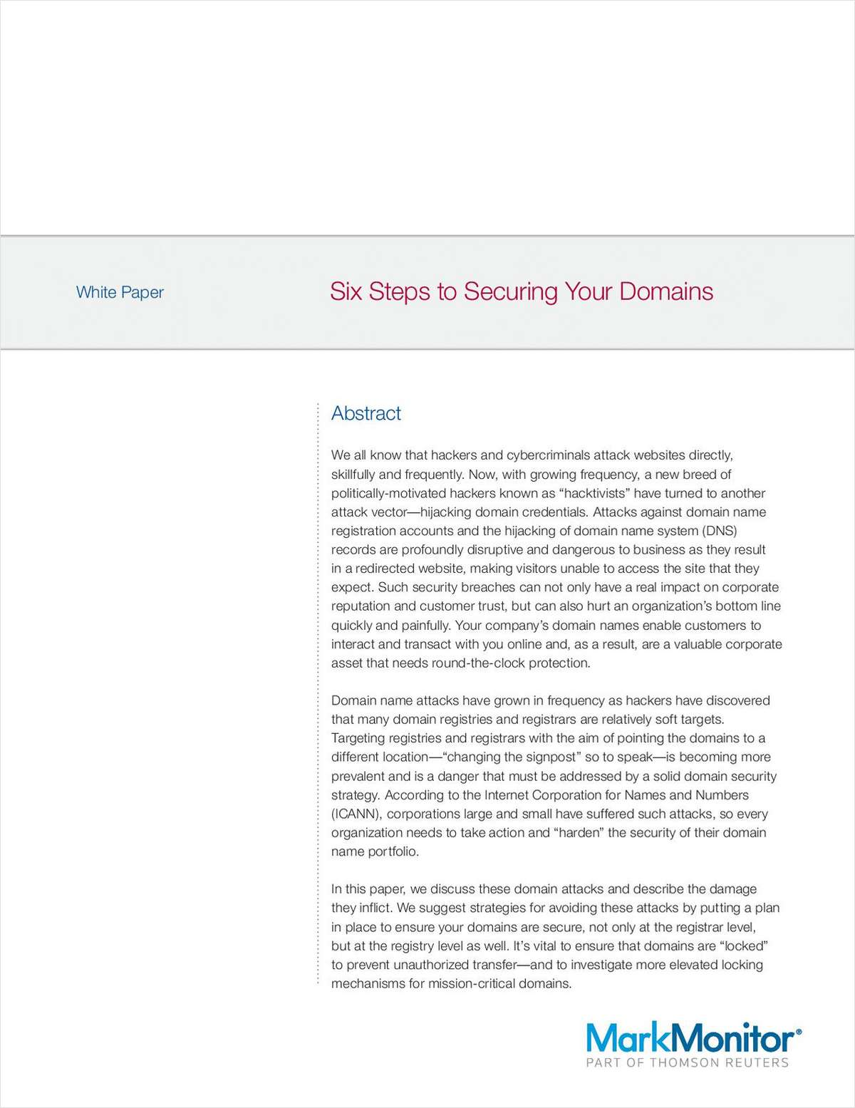 Six Steps to Securing Your Domains