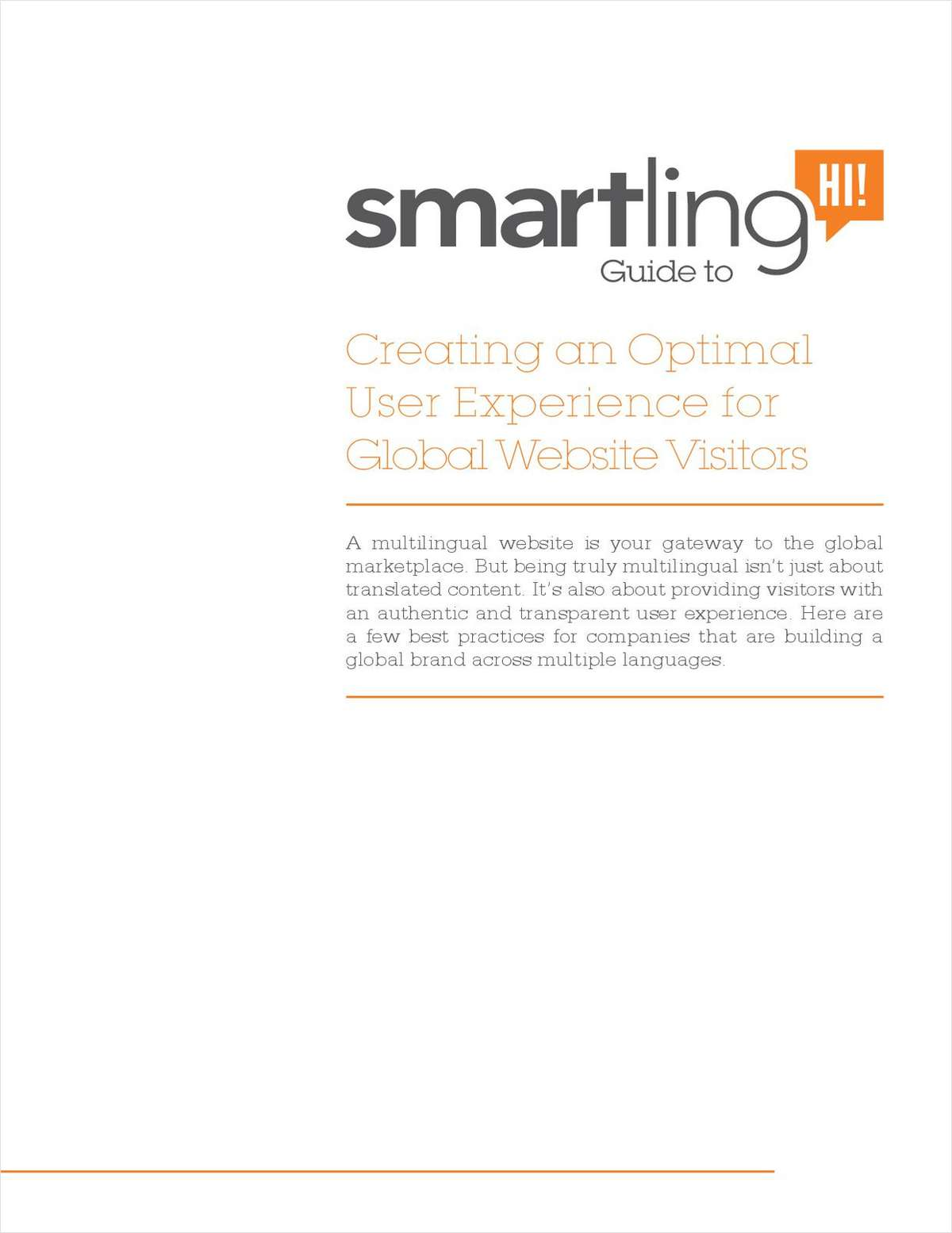 Creating an Optimal User Experience for Global Website Visitors