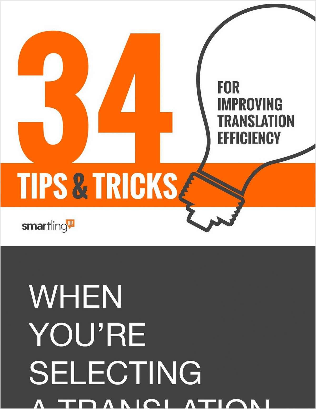 34 Tips & Tricks for Improving Translation Efficiency