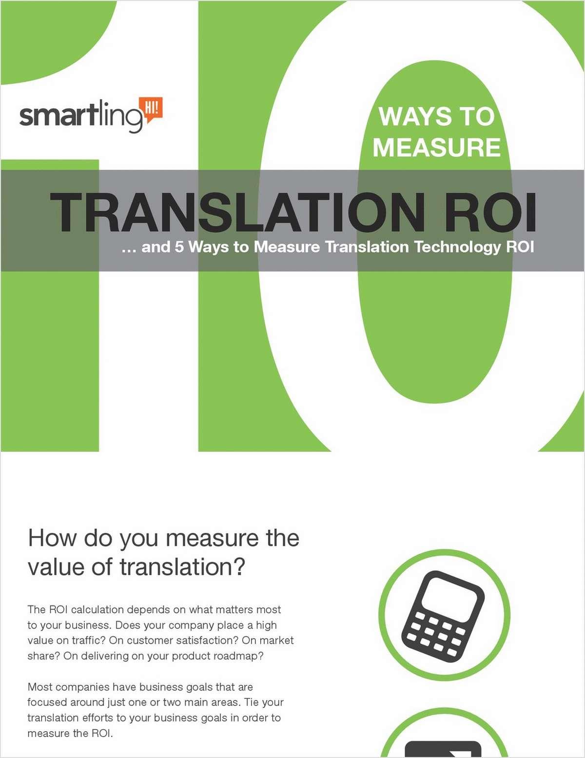 10 Ways to Measure Translation ROI