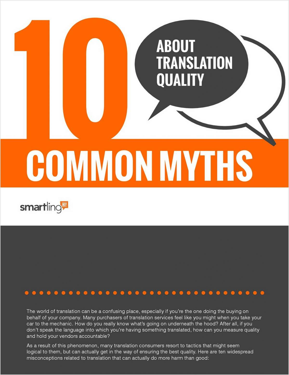 Ten Common Myths About Translation Quality