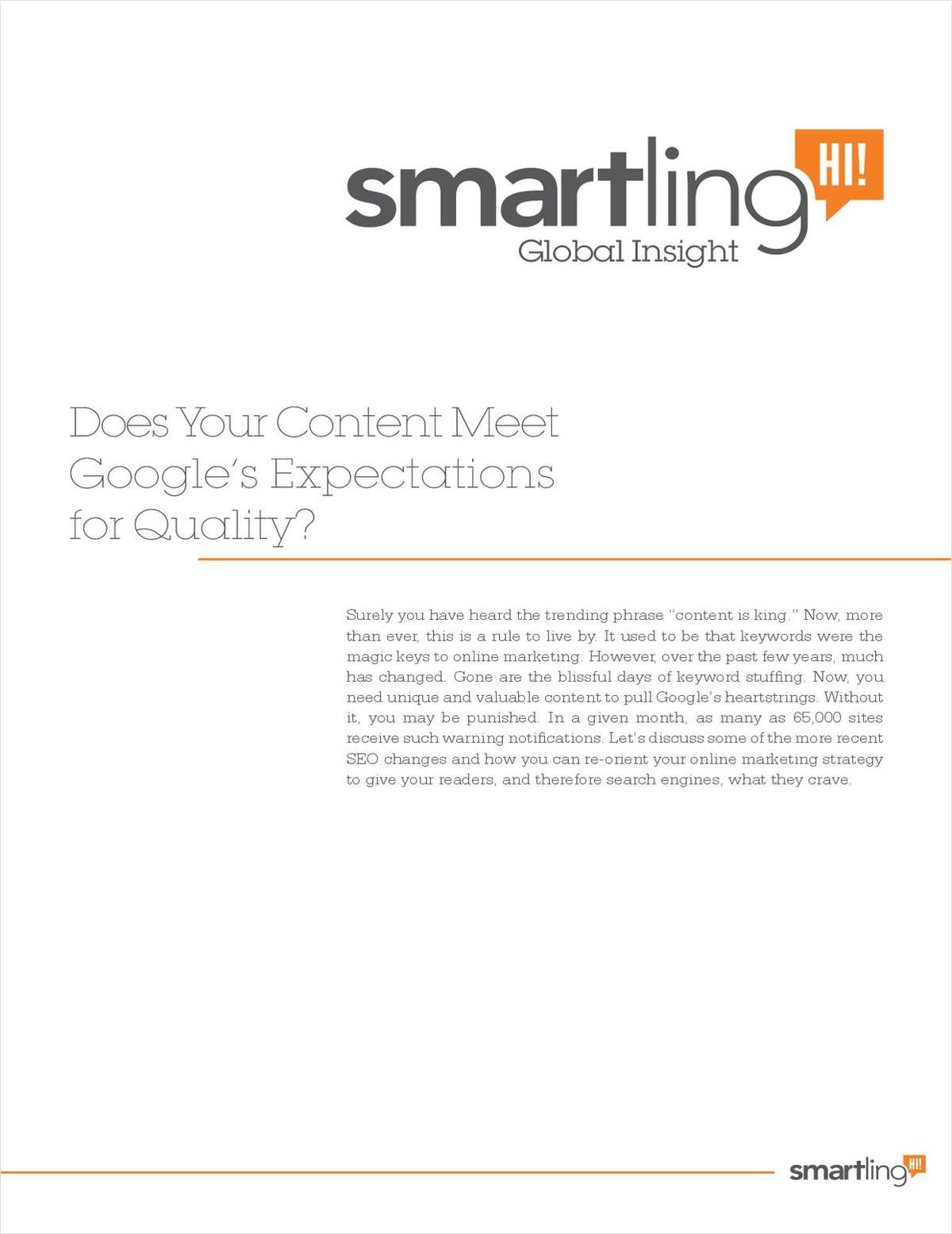 Does Your Content Meet Google's Expectations for Quality?